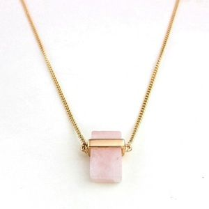 NWT - natural rose quartz pendant necklace! 🌸
